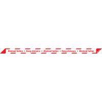 Bodenmarkierung Abstand halten - Keep Distance, Bodenmarkierungsfolie, 1000x50mm